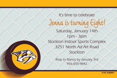 Nashville Predators Custom Invitation