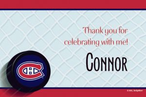 Custom Montreal Canadiens Thank You Notes