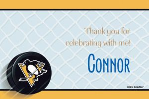 Custom Pittsburgh Penguins Thank You Notes