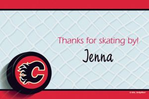 Custom Calgary Flames Thank You Notes