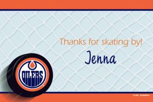 Custom Edmonton Oilers Thank You Notes