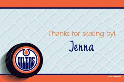 Custom Edmonton Oilers Thank You Notes