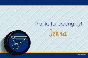 Custom St. Louis Blues Thank You Notes