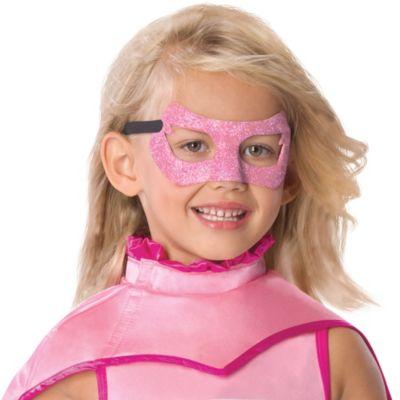 Child Glitter Supergirl Mask - Superman
