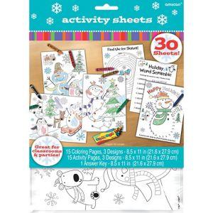 Joyful Snowman Activity Sheets 30ct