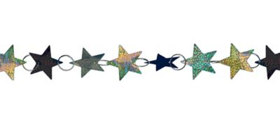 Prismatic Black, Gold & Silver Star Ring Garland