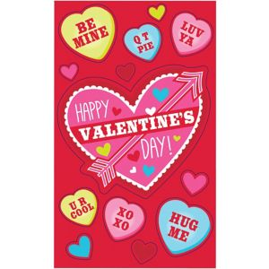 Sticker Valentine Exchange Cards 12ct