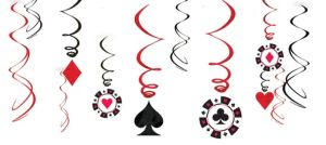 Place Your Bets Casino Swirl Decorations 12ct