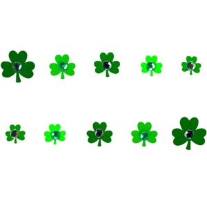 Jewel Shamrock Nail Stickers