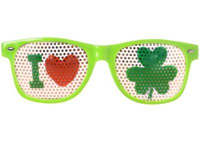 Shamrock Printed Glasses