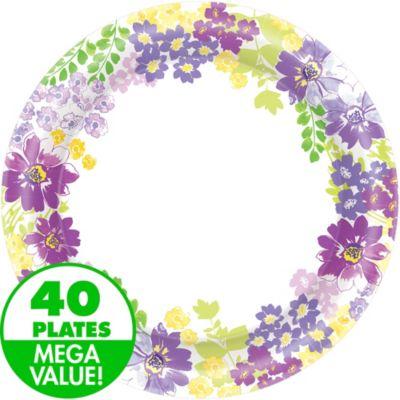 Floral Bloom Dinner Plates 40ct