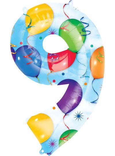 Number 9 Balloon - Celebration