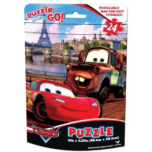 Cars Puzzle Bag 24pc
