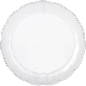 CLEAR Plastic Scalloped Platter