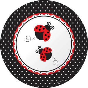 Fancy Ladybug Lunch Plates 8ct