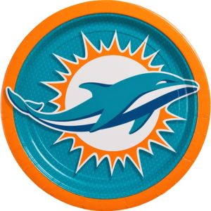 Miami Dolphins Lunch Plates 18ct