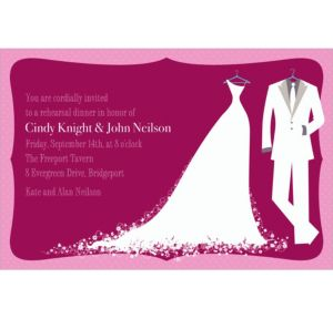 Custom White Bride and Groom Wedding Invitations
