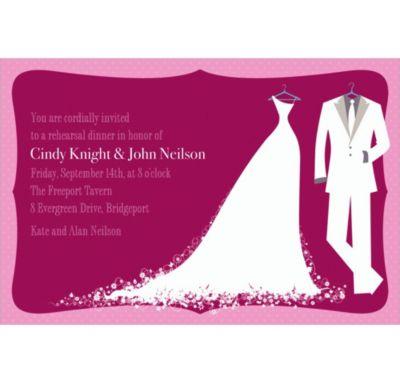 White Bride and Groom Custom Wedding Invitation