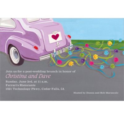 Custom Just Wed Buggy Wedding Invitations