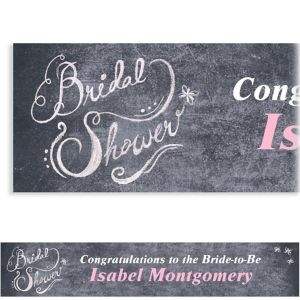Custom Chalkboard Bridal Shower Banner 6ft