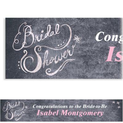 Chalkboard Custom Bridal Shower Banner