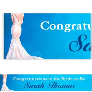 Custom Bride in Gown Light Bridal Shower Banner 6ft