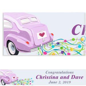 Custom Just Wed Buggy Wedding Banner 6ft