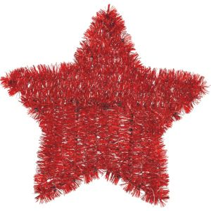 Tinsel Red Star Sign