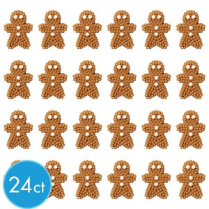 Gingerbread Man Icing Decorations 24ct