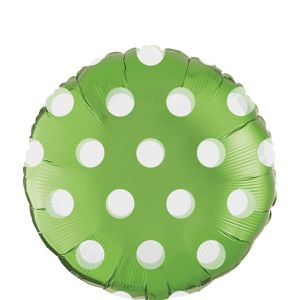 Kiwi Green Polka Dot Round Balloon