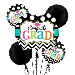 Graduation Balloon Bouquet 5pc - Dream Big