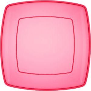Bright Pink Plastic Square Platter