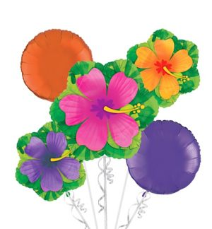 Hibiscus Balloon Bouquet 5pc