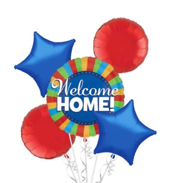 Welcome Home Balloon Bouquet 5pc