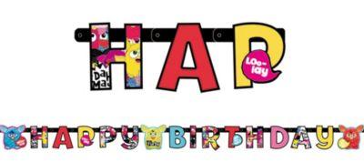 Furby Birthday Banner 5 3/4ft