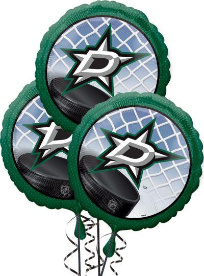 Dallas Stars Balloons 3ct