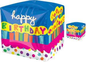 Cubez Birthday Cake Balloon 15in