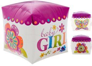 Cubez Baby Girl Balloon
