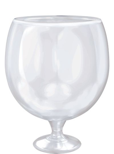 CLEAR Plastic Giant Pedestal Glass