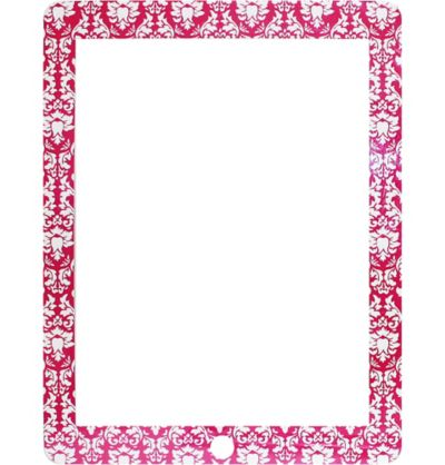 Pink Damask Screen Protector for iPad