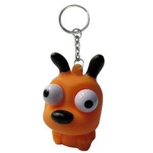 Eye Pop Squeeze Orange Dog Keychain
