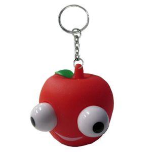 Eye Pop Squeeze Apple Keychain
