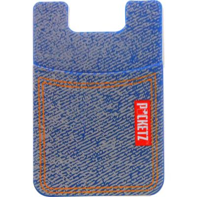 Denim Self-Adhesive Silicone Pocket