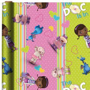 Doc McStuffins Gift Wrap