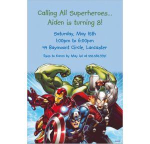 Custom Avengers Invitations
