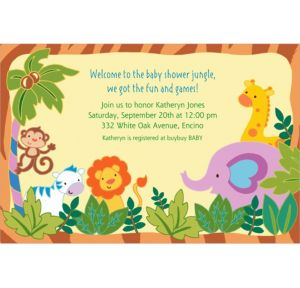 Custom Jungle Baby Shower Invitations