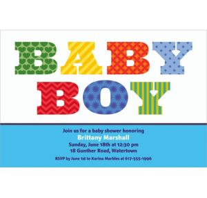 Custom Big Baby Boy Invitations