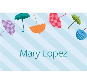 Custom Umbrella Baby Shower Thank You Notes