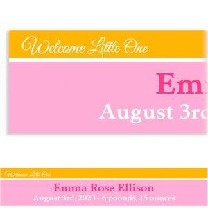 Custom Welcoming Words Girl Banner