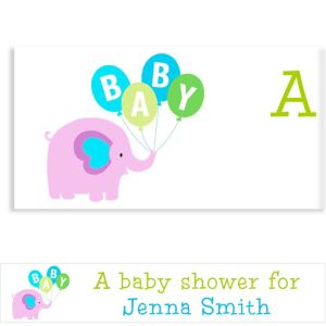 Custom Animals with Boy Balloons Baby Shower Banner 6ft